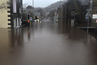 Hebden Bridge flooded